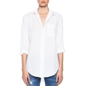 Current/Elliott The Prep School White Shirt M
